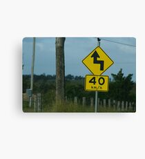 Australian roads Canvas Print