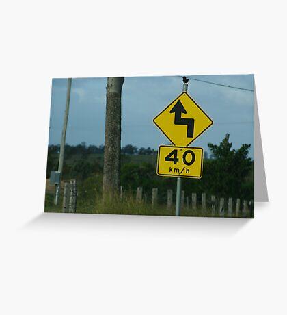 Australian roads Greeting Card