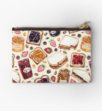 Peanut Butter and Jelly Watercolor Studio Pouch