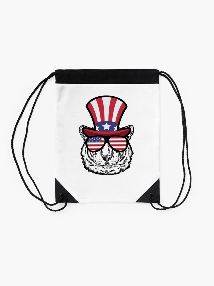 Vista alternativa de Mochila saco Tiger Happy 4th Of July