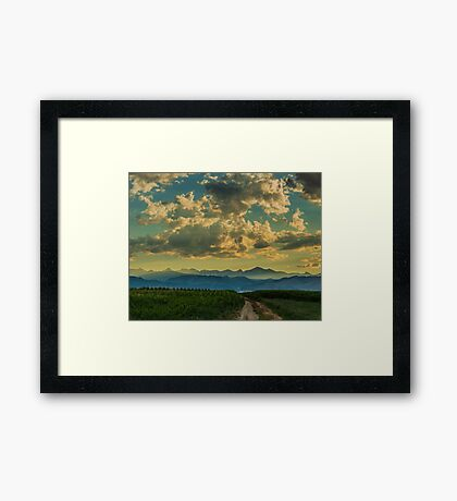 From Cornfields To The Continental Divide Framed Print