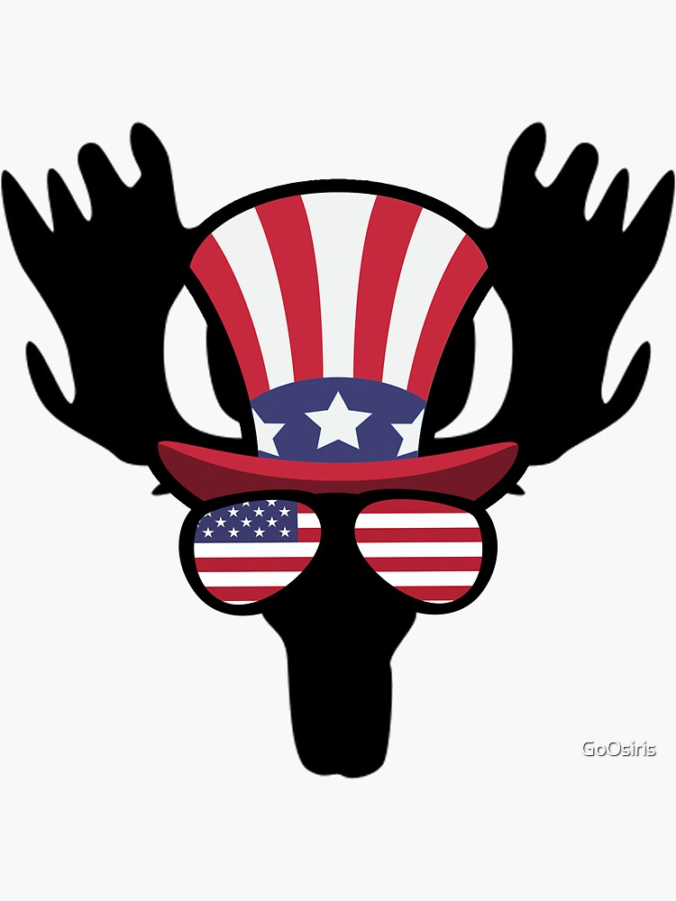 Moose Happy 4th Of July de GoOsiris
