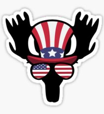 Moose Happy 4th Of July Pegatina