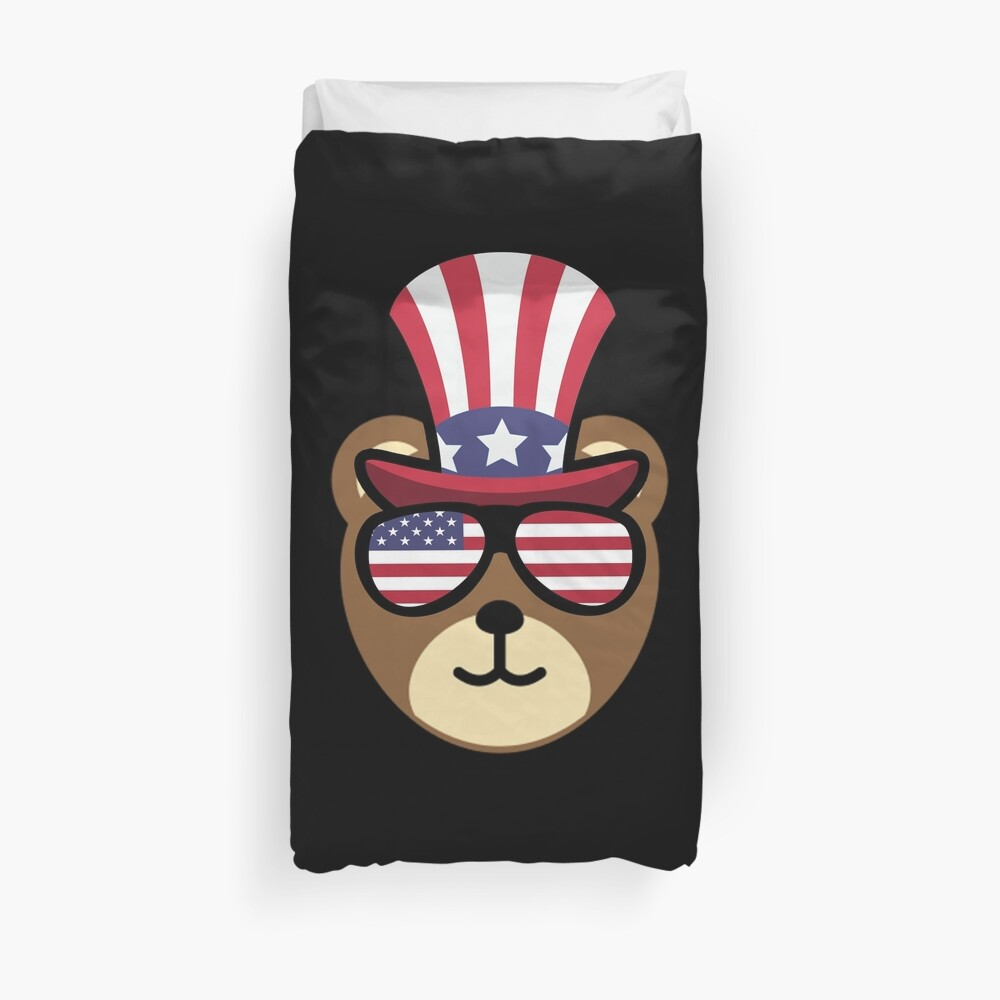 Bear Happy 4th Of July Funda nórdica