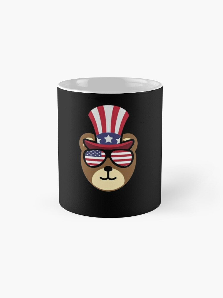 Vista alternativa de Taza Bear Happy 4th Of July