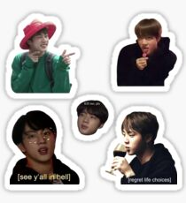 Jin-Collage Sticker