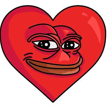 Pepe heart funny love meme by TryStar