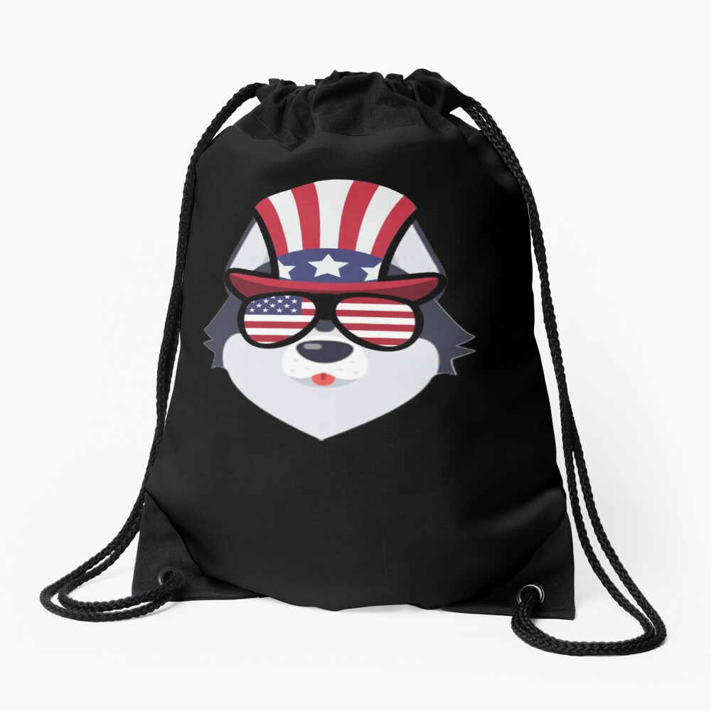 Husky Happy 4th Of July Mochila saco