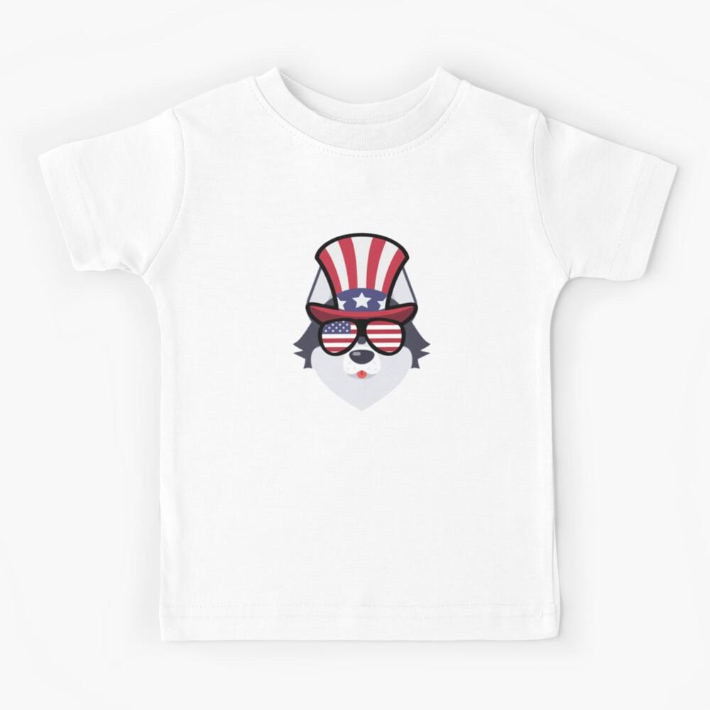 Husky Happy 4th Of July Camiseta para niños