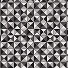 Black and Grays Geometric Pattern by Cherie Balowski