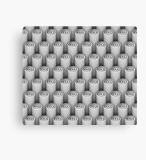 3d pattern of white 3d tubes Canvas Print