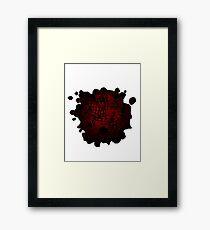 Molten Iron Framed Print