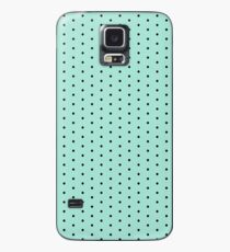 Mint with black polka dots Case/Skin for Samsung Galaxy