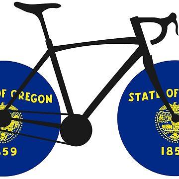 Oregon Flag Cycling by esskay