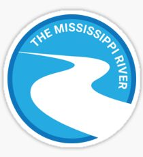 The Mississippi River Sticker