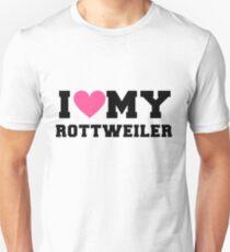 I Love My Rottweiler Dog Breeds Gift Unisex T-Shirt