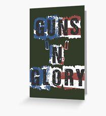 Guns 'n' Glory Greeting Card