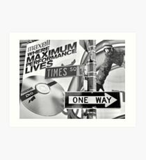 one way. times square, new york city  Impression artistique