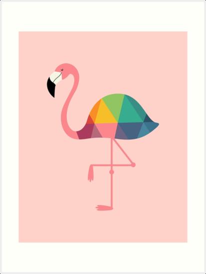 Rainbow Flamingo by AndyWestface