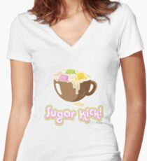 Sugar Kick! Women's Fitted V-Neck T-Shirt