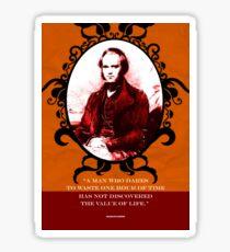 Charles Darwin Quote 4 Sticker