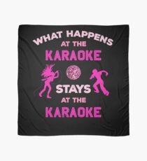 What Happens at the Karaoke Stays Singing Lovers Scarf