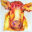 Julianne, Watercolor Cow by Jeri Stunkard