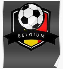 Soccer flag Belgium Poster