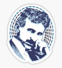 Nikola Tesla Illustration Sparks Thunder Sticker