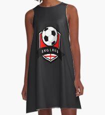 Soccer flag England A-Line Dress