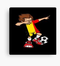 Dabbing Brazilian Footballer T Shirt Soccer World Cup 2018 Brazil as a gift idea Canvas Print