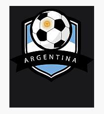 Soccer flag Argentina Photographic Print