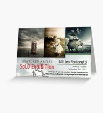 Matteo Pontonutti, Solo Exhibition Banner Greeting Card