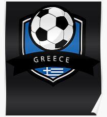 Soccer flag Greece Poster
