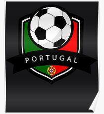 Soccer flag Portugal Poster