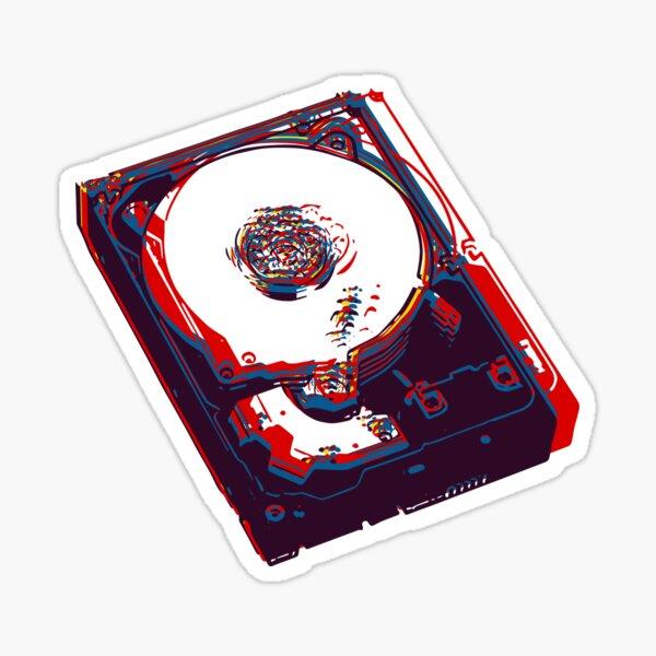hard drive Sticker