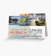 Randy Sprout, Solo Exhibition Banner Greeting Card