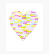 Heart Collage Photographic Print