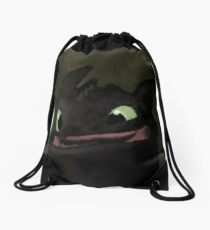 Toothless Grin Drawstring Bag