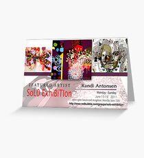 Randi Antonsen, Solo Exhibition Banner Greeting Card