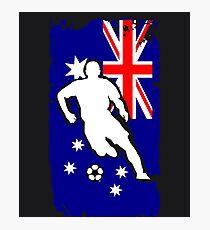 Australia Flag Soccer Player Photographic Print