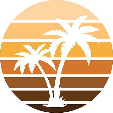 1980's Retro Miami Sunset by VASSdesign