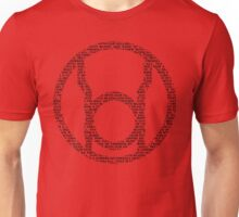 Red Lantern Oath (Black) Unisex T-Shirt