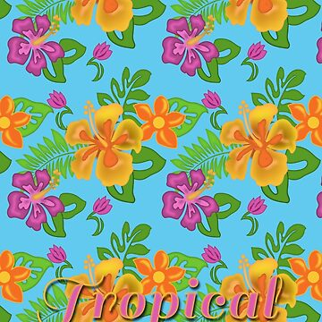 Hawaiian Tropical Pattern by carolv723
