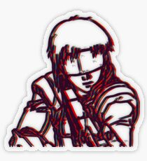 Kusanagi-Ghost In The Shell Transparent Sticker