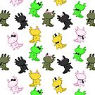 Fancy Axolotls by Kristina S