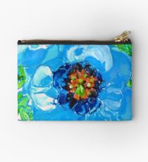 Himalayan Blue: Poppy Painting by Alma Lee Studio Pouch