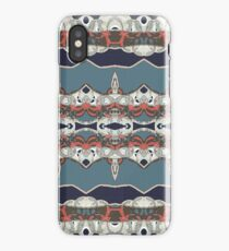 Faded blue abstract floral iPhone Case