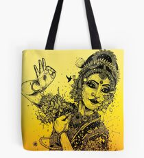 Kuchipudi Dancer - Hidden Detail Tote Bag