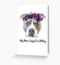 Pitty princess emma Greeting Card